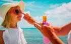 Kinder immer vor Sonne schützen
